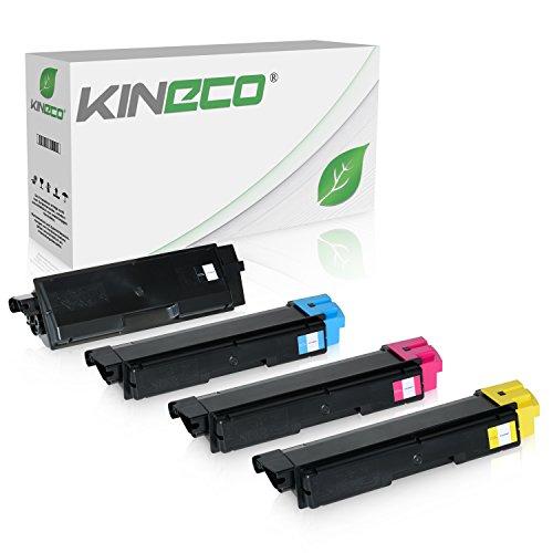 4 Toner kompatibel zu TK-590 TK590 für Kyocera FS-C2026MFP, FS-C2126MFP, FS-C2526MFP, FS-C2626MFP, FS-C5250DN, ECOSYS M6026, M6526, P6026 - Schwarz 7.000 Seiten, Color 5.000 Seiten