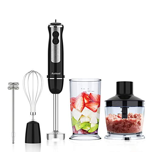 Acekool Hand Blender, 5-in-1 Immersion Stick Blender, 12-Speed 800W...