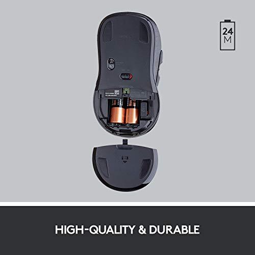 Logitech M510 - Ratón (Mano Derecha, Laser, Bluetooth, 1000 dpi, Púrpura)