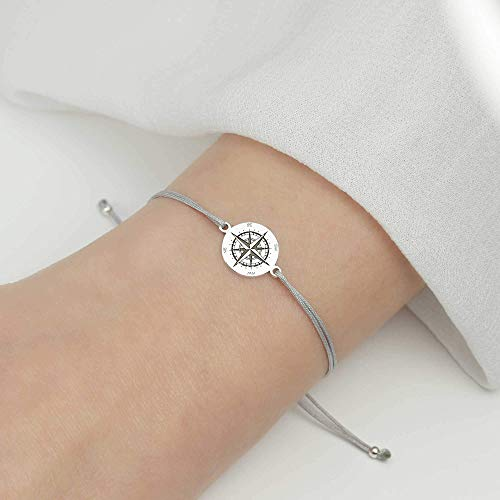 Armband Kompass 925 Silber