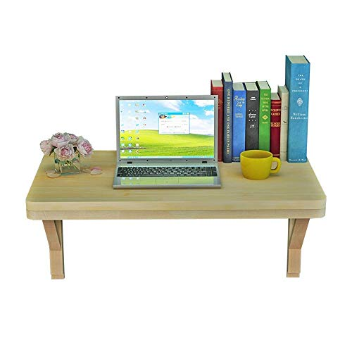 N/Z Home Equipment Wall mounted Table Laptop Stand Desk Solid Wood Kitchen Countertop Coffee Table Living Room Racks 10 Sizes (color : A Size : 80x40CM)