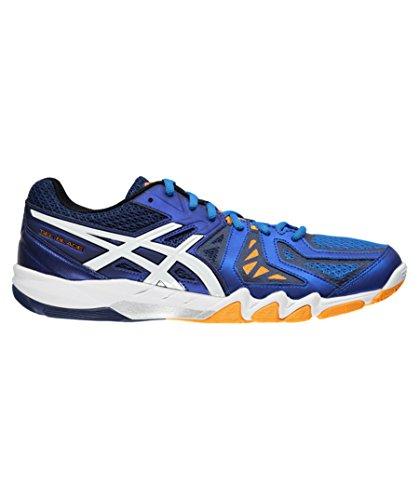 Asics Gel-Blade 5, Herren Squash-Schuhe, Herren, Blau (electric Blue/white/navy 3901), 50.5 EU