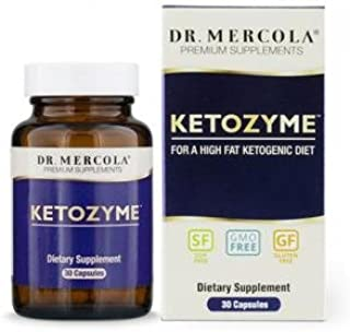 Dr. Mercola Ketozyme Digestive Enzymes - 30 Capsules - Best Digestive Enzyme Supplements for Fat Digestion - Support Your Keto Diet with Betaine HCl and Other Vital Enzymes for Digestion of Fat!*