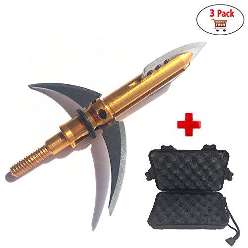 WEREWOLVES Arrow Broadheads 4 Cuchillas Arrow Heads Tips 100 Grains para Archery Bows 3 Pack
