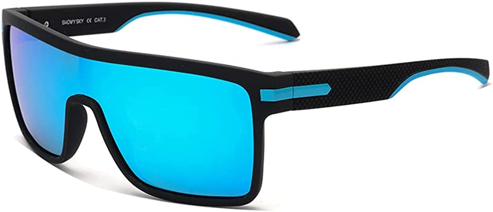 Polarized Super sale period Denver Mall limited Shield Sunglasses for Men One Square Unisex Oversized