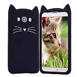 HopMore Compatible with Handyhülle für Galaxy J7 2016 Hülle Silikon Kawaii Katze 3D Tier Muster Ultra Dünn Slim Samsung J7 2016 Handy Hülle Stoßfest Silikonhülle Slim Case Cover -...