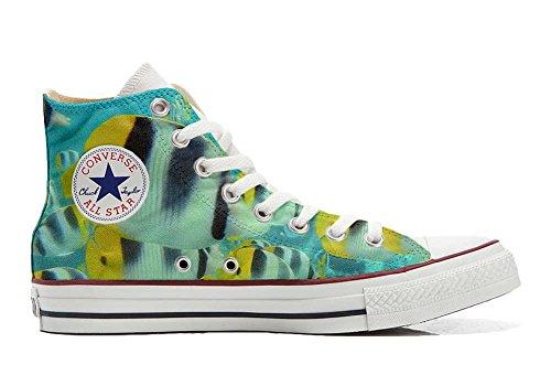 Sneaker & Sportschuhe USA - Base Print Vintage 1200dpi - Italian Style - Hi Customized personalisierte Schuhe (Handwerk Schuhe) Bunte Fische TG41