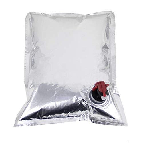 JIAHU Bolsas de repuesto para bolsa de vino, dispensador de boquilla, bolsas de almacenamiento de agua, 2 litros, 3 paquetes