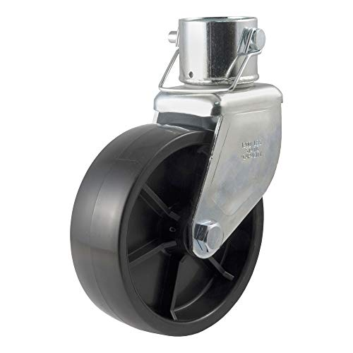 CURT 28276 6-Inch Caster Trailer Jack Wheel Replacement, Fits 2-In Tube, 1,200 lbs