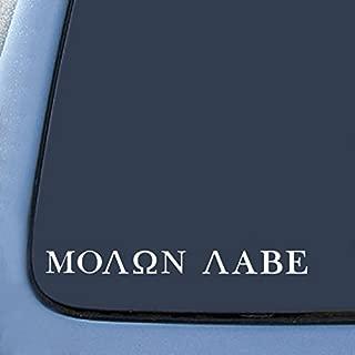 Molon Labe Come and Take them Gun Rights Decal Vinyl Sticker Cars Trucks Vans Walls Laptop  WHITE  7.5 x 1.5 in CCI480