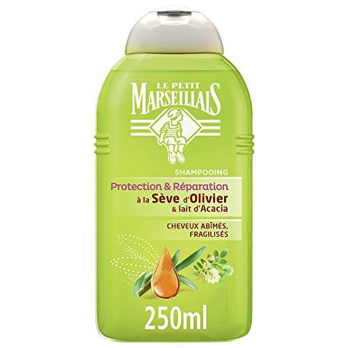 Le Petit Marseillais Champú Intenso reparación Sève Olivier y Acacia leche 250 ml Pack de 3