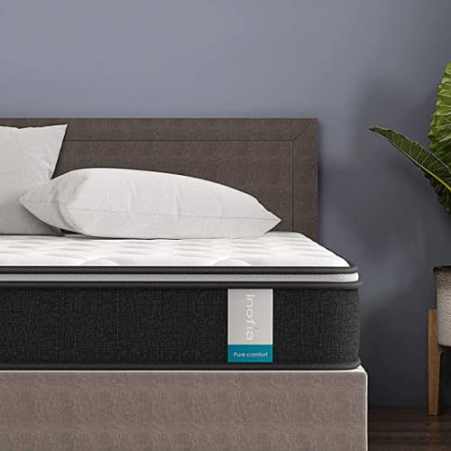 Inofia Sleep Memory Foam Pocket Sprung Mattresses Pressure Relief with Zoned Support 9.5Inch...