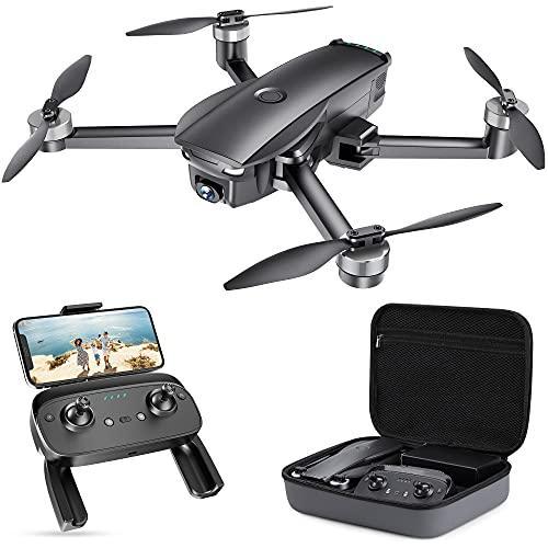SP7100 Faltbare GPS Drohne mit 4K UHD Kamera Live-Video für Erwachsene, Quadcopter mit Bürstenlosem Motor, Intelligente GPS Rückkehr, Follow Me, POI für Anfänger mit 26 Minuten Flugzeit