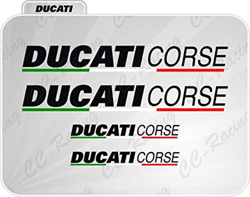 4 Aufkleber Ducati Corse Seite 848 Panigale 1199 1098 Silber