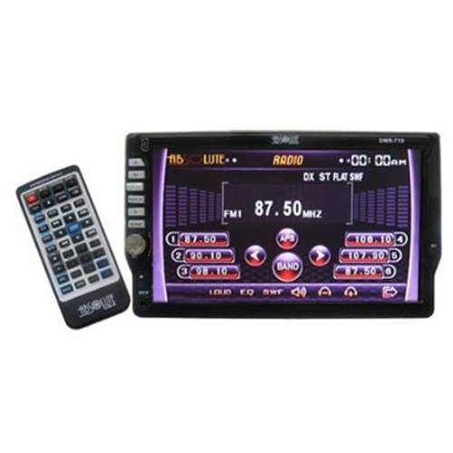 Absolute DMR710 Single DIN In-Dash 7-Inch TFT-LCD Touch screen Monitor with DVD, MP3, CD Receiver, USB and AUX Input