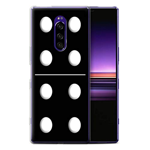 eSwish Phone Case/Cover/Skin/SXP-GC/Dominoes/Dominos Collectie Sony Xperia 1/XZ4 2019 Zwart Tegel 5/4