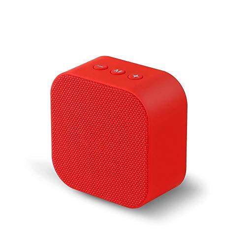 Haut-Parleur Bluetooth en Tissu Mini Portable sans Fil BoîTe à Musique 5w Voiture Bass + Radio FM + 120 Heures en Veille Compatible avec Smartphone, Tablette, Ordinateur De Bureau Bleu, Rouge, Noir