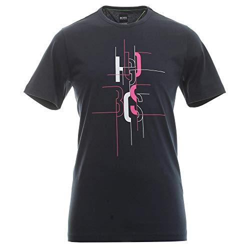BOSS Hugo Tee 2 Graphic Logo Camiseta Azul Marino 50431815
