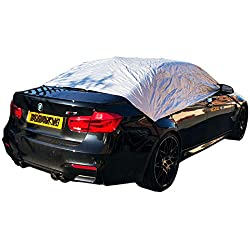 This car cover is ideal to protect your windows from that frosty mornings or sunny days. No more scraping the windscreen first thing on a cold frosty morning or opening windows on a blazing hot day. Quick and easy to put on & remove elastic straps wi...