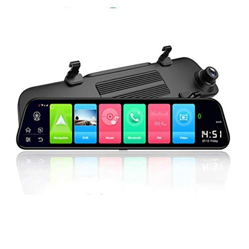 Flashing 4g Dash CAM 12 Pulgadas Coche retrovisor Espejo ADAS Android 8.1 FHD Auto Grabador GPS Navegación GPS Dash Camera Vista Trasera Mirror DVR (Color : Z69-4G, Size : with 32G Card)