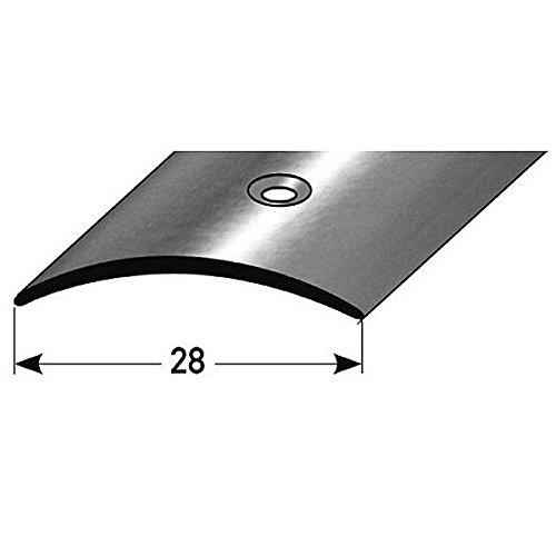 Übergangsprofil / Übergangsschiene, 28 mm, Typ: 05 (Aluminium eloxiert, mittig gebohrt), Farbe: BRONZE DUNKEL