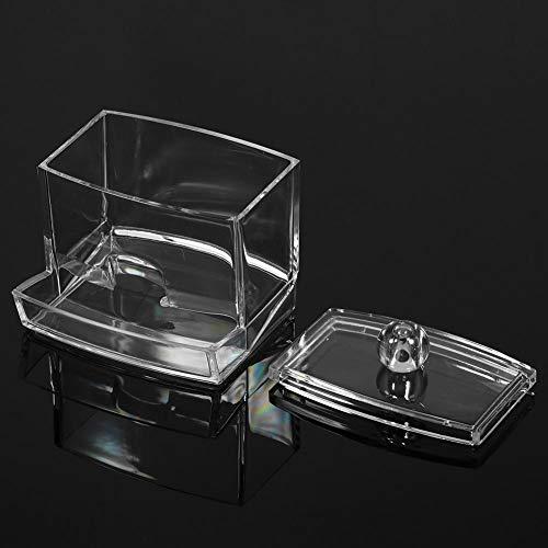 Liukouu Porte-écouvillon cosmétique à accès Facile pour Le Maquillage, boîte à écouvillons, Pointe Q Pratique pour tampons de Maquillage Boules de Coton