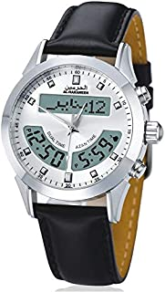 ساعة يد رجالي من الحرمين ، انالوج و ديجيتال ، جلد ، اسود ، HA-6102WL