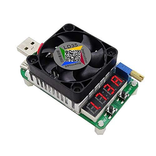 Tablero de distribución de energía LD35 Interfaz USB Resistencia de carga electrónica Descarga de batería Prueba de pantalla LED Ventilador Voltaje de corriente ajustable 25w fuente de alimentación