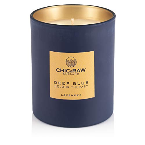 Chic & Raw, Colour Therapy, Deep Blue, Lavender Scented Candle