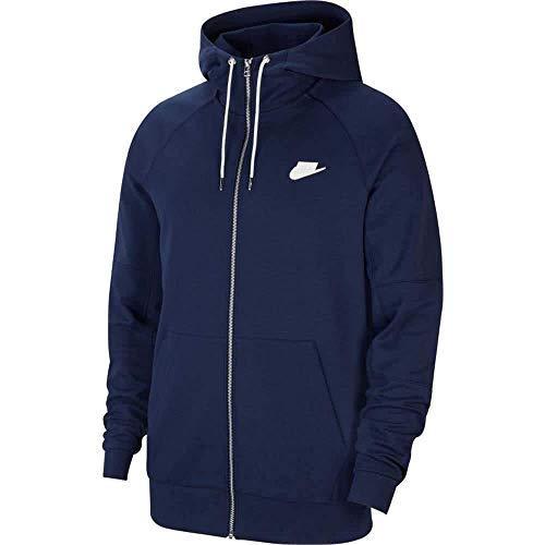 Nike Męska M Nsw nowoczesna bluza z kapturem Fz Flc bluza Midnight Navy/Ice Silver/White/(White) L