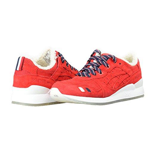 KithX MonclerX Asics Gel-Lyte III Suede Leather Men's Fashion Sneakers Shoes Sz US 8.5 IT 41.5