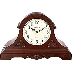 Howard Miller Sheldon Mantel Clock 635-127 – Americana Cherry with Quartz, Dual-Chime Movement
