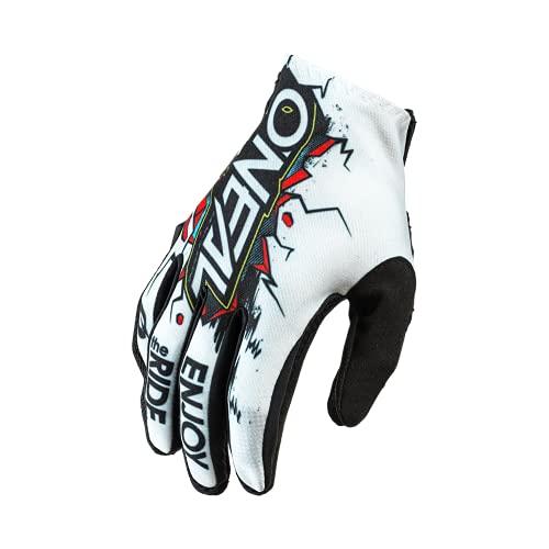 O'NEAL | Guanto da ciclismo e motocross | MX MTB DH FR Downhill Freeride | Materiali durevoli e flessibili, palmo ventilato | Matrix Glove Villain | Unisex | Nero Bianco | Taglia L
