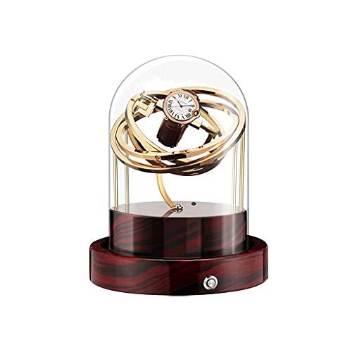 LUYJKL Reloj Winders de gama alta exquisita cubierta de vidrio mecánica reloj agitador automático caja de motor de bobinado caja de reloj eléctrico (color: A)