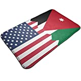 N\A Flagge von Jordanien USA Flagge Fußmatte Eingangsmatte Fußmatte Teppich Innen-/Außen-/Haustür-/Badezimmermatten Gummi rutschfest