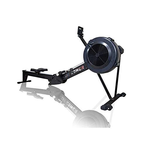 CCTYCC Air Rower, Folding Design Rudergerät mit zehn Geschwindigkeiten und einstellbarem Widerstand und LCD-Monitor Dynamischer Luftwiderstand für Muskelaufbau und Verbesserung der Herzgesundheit