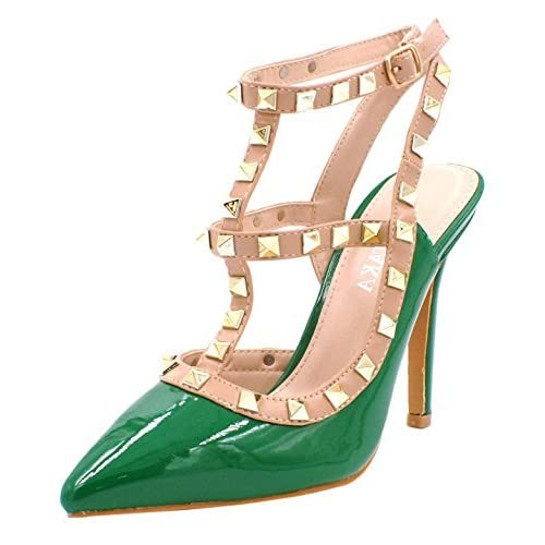 2ac201c037b Womens Ladies Studded High Stiletto Heel Cut Out Pointed Toe Dressy Fashion  Court Shoes - D18