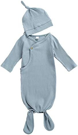 Newborn Infant Baby Girl Boy Gowns Sleeping Bag Pajamas Coming Home Outfits Swaddle Blanket product image