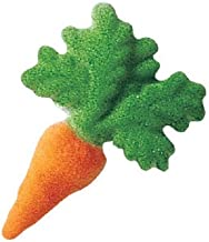 Lucks Dec-Ons Decorations Molded Sugar/Cup-Cake Topper, Carrot, 2 Inch, 160 Count