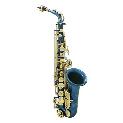 Sharplace LADE Saxofón Alto Sax Profesional Set - Latón, Color Azul