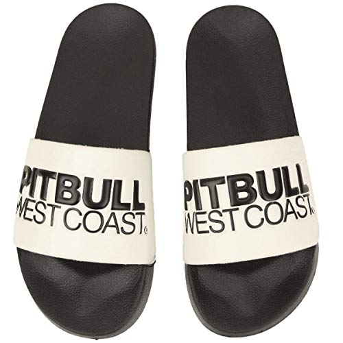 Pit Bull West Coast Badeschlappen T N T Weiss schwarz - 43