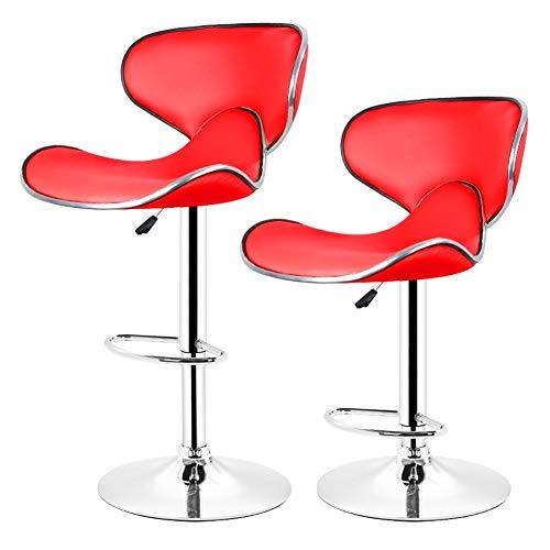 XQAQX 1 paar barkrukken, PU-leer, met vlindermotief, in hoogte verstelbaar, draaibaar, voor keuken / bar / stoel