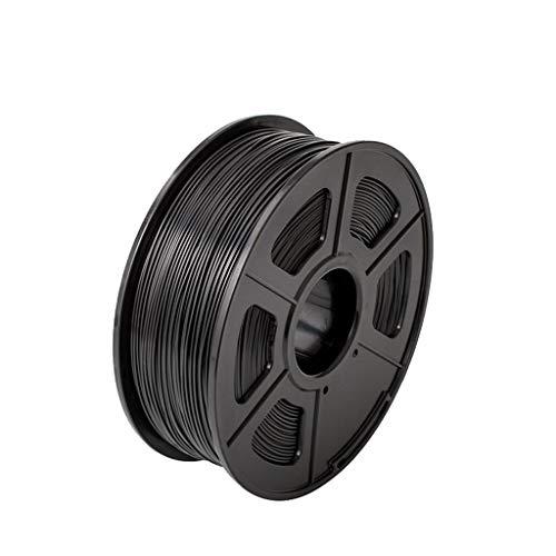 Filament PLA 3D-Drucker + / PLA 1.75mm 2.2 LBS 1KG Spool 3D-Druckmaterial for 3D-Drucker und 3D-Pens PLA Filament 3D Pen Filament Refills (Color : Black)