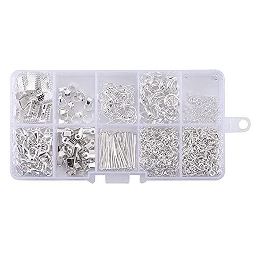 GLAITC Kit di Accessori per Gioielli Fatti a Mano,Forniture di Fabbricazione di Gioielli Set di Perline e creazione di Gioielli per Fabbricazione di Riparazione di Gioielli Forniture Artigianali DIY