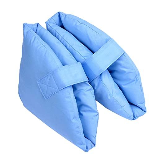 OMVOVSO Fersenschoner Antidekubitus, Links Ellbogen Fersenpolster Europäische Marke Dekubitus Ellenbogenschoner Vlies Verstellbar Waschbar 2 Stück,Blau