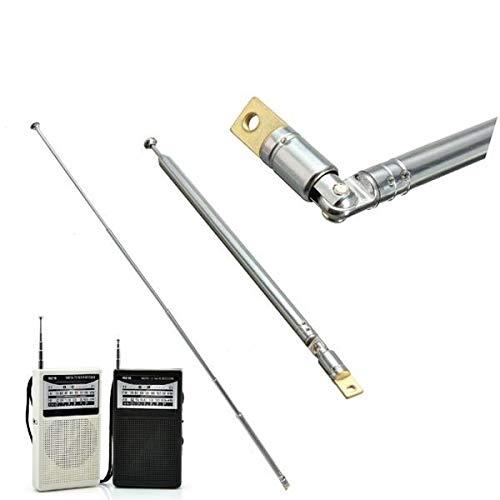 Raitron Vervanging 60cm Zes Secties Zilver Telescopische Antenne Luchtantenne voor Radio TV KL