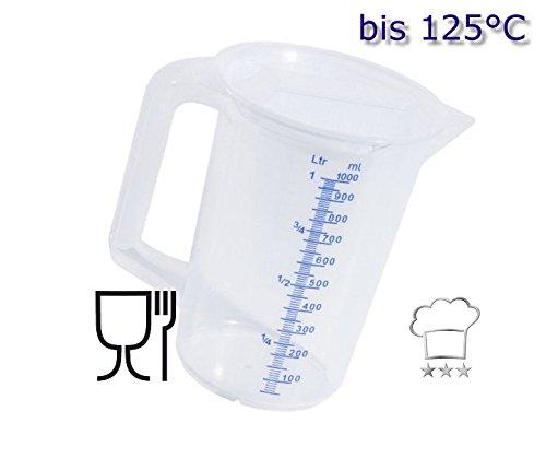Kerafactum maatbeker, maatbeker, maatbeker, maatbeker, 2 liter, keukenschaal met deksel als maatbeker, mixbeker voor staafmixer, vaatwasmachinebestendig kunststof