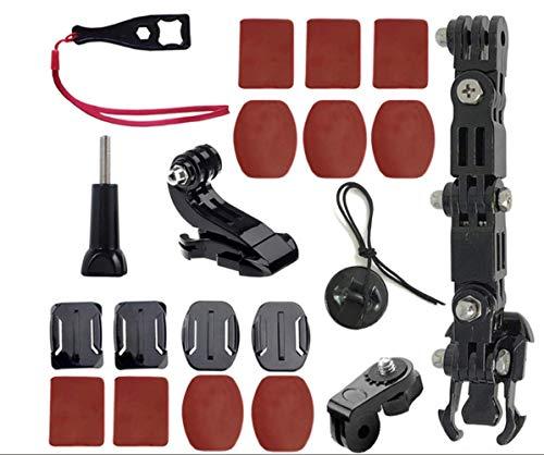 ShipeeKin Kieferhalterung Helm Halterung für Motorradhelme compatibel mit GoPro Hero 8/7/6/5/4 4+ 3 Serien und andere Action Cam