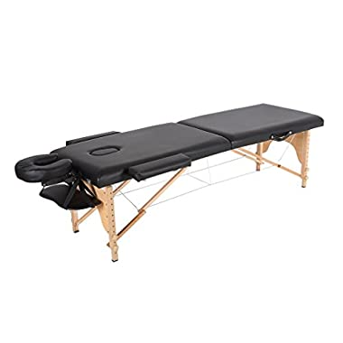 New Black 84  Portable Massage Table w/Free Carry Case T1 Chair Bed Spa Facial
