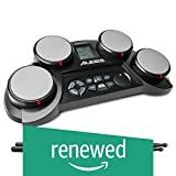 Alesis Compact Kit 4 | Portable Electronic Drum Kit with 70 Drum Sounds, Coaching Feature, Game Functions, Battery- or AC-Power and Drum Sticks Included (Renewed)
